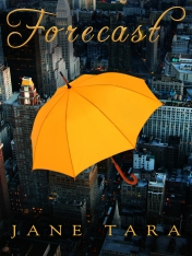 A new cover for my first novel Forecast.