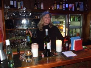 Jane's behing a bar... there's Trouble Brewing!